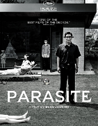 In Korean with Englishsubtitles After its extraordinary success in Cannes, at the Oscars, Golden Globes, BAFTAs, and Independent Spirit Awards, the brilliant Palme d'Or-winner Parasite returns to cinemas in this special black-and-white version, as envisioned by director Bong Joon Ho. Instead of opting for a simple digital bleaching, Bong Joon Ho worked with a colorist and cinematographer to make sure each scene retained its texture.The Kims are living a marginal life when their son fakes his way into becoming the English tutor for the ultra-wealthy Park family. Soon all four of the family members have roles in their hyper-stylish modern home, having used every dirty trick in the book. But the house hides secrets that are way outside the Kim's scheme.
